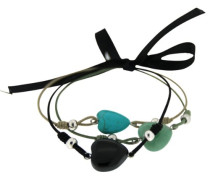 Armband Daglind turquoise/green/black 18 cm 00040