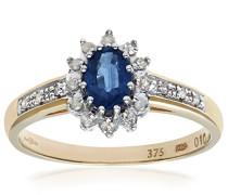 Damen-Ring 375 Gelbgold 9 K Diamant PR04767Y-K