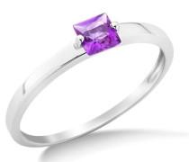 Damen-Ring mit Amethyst 9 Karat 375 Weißgold