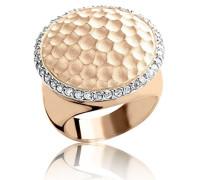Ring Silber Vergoldet teilvergoldet Zirkonia Weiß Brillantschliff 54 (17.2) - R-4216-ROSE/54