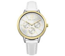 Multi Zifferblatt Quarz Uhr mit Leder Armband DD055WSG