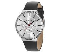 Multi Zifferblatt Quarz Uhr mit Leder Armband 15044JS/04
