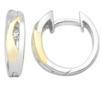 Creolen 9 Karat Gelbgold mit 925 Silber und Brillanten MH9037SE