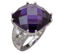 Ring Amethyst 925 Sterlingsilver mit Zirkonia