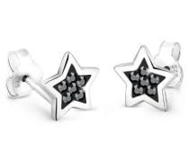 Schmuck Ohrringe Ohrstecker Stern Astro Trend Himmel Blogger Silber 925 Swarovski Kristalle