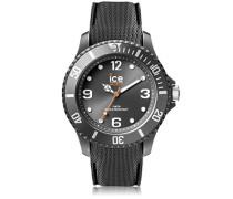 ICE sixty nine Anthracite - Graue Herrenuhr mit Silikonarmband - 007280 (Medium)