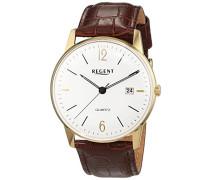 Herren-Armbanduhr Analog Quarz Leder 11100264