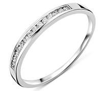 Ring Ewigkeitsring Weißgold 18 Karat/750 Gold Diamant Brillianten 0.10 ct