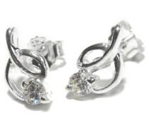Ohrhänger, aus Sterling-Silber und Cubic Zirkonia