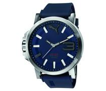 Armbanduhr Datum klassisch Quarz Silikon PU103911003