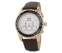 Datum klassisch Automatik Uhr mit Leder Armband BM302a-385