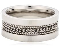Ring Edelstahl Kristall Crossroad silber SZT05023