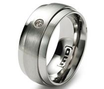 Damen-Ring Edelstahl Diamant