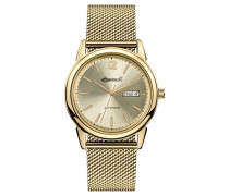 Men's The New Haven Automatic Watch with Gold Dial and Gold Stainless Steel Bracelet I00506