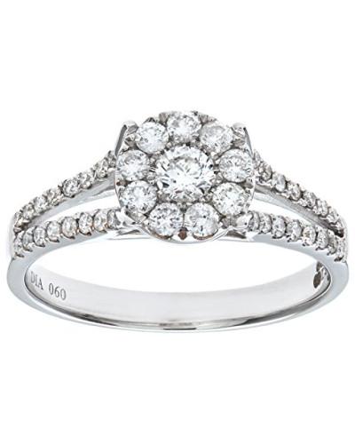 Verlobungsring 18 K Weißgold Diamant 0