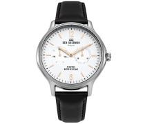 Datum klassisch Quarz Uhr mit Leder Armband WB017B