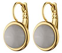Ohrstecker ICONS POALA SG Messing teilvergoldet Opal grau Rundschliff 2.2 cm - 341161