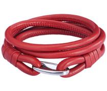 Unisex-Armband Edelstahl Leder 35 cm - 609070240