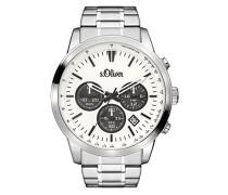 Time Chronograph Quarz Uhr mit Edelstahl Armband SO-3334-MC