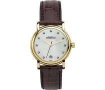 Metropole Women'Armbanduhr Analog Leder braun/P59MA 12432