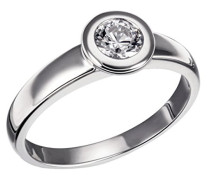 Ring Eternity 925 Sterlingsilber 1 klarer Zirkonia