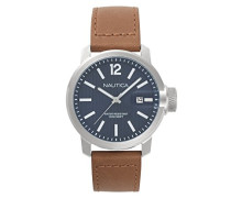 Datum klassisch Quarz Uhr mit Leder Armband NAPSYD001