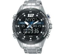 Analog-Digital Quarz Uhr mit Edelstahl Armband PZ4027X1