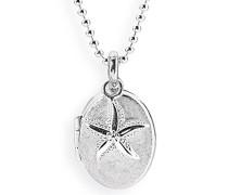 Medaillon MyName zum aufklappen Silber eismatt mit Seesterneinhänger ohne Gravur LD MY 353 9