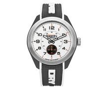 Analog Quarz Uhr mit Silikon Armband SYG214B