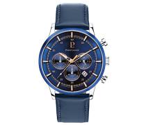 Chronograph Quarz Uhr mit Leder Armband 224G166