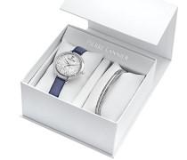Datum Norm Quarz Uhr mit Leder Armband 391B606