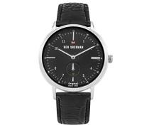 Analog Quarz Uhr mit Leder Armband WBS102BB