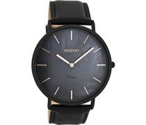Herren Digital Quarz Uhr mit Leder Armband C8134