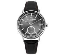 Datum klassisch Quarz Uhr mit Leder Armband WB071BB