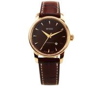 Analog Automatik Uhr mit Leder Armband M76003178