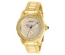 28435 Angel Uhr Edelstahl Quarz goldenen Zifferblat