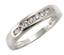 Diamonds by Ellen K. Ring 375 Gelbgold rhodiniert Diamant (0.25 ct) Brillantschliff weiß