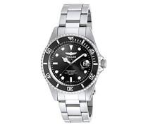 8932OB Pro Diver Uhr Edelstahl Quarz schwarzen Zifferblat