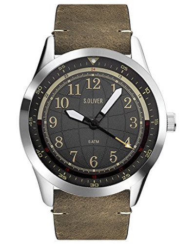 Erwachsene Analog Quarz Uhr mit Leder Armband SO-3575-LQ