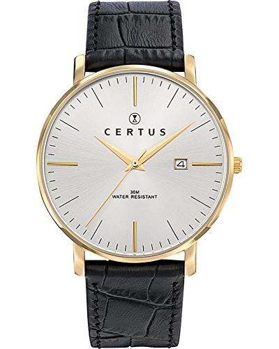 Herren Analog Quarz Uhr mit Leder Armband 612382