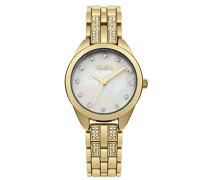 Datum klassisch Quarz Uhr mit Aluminium Armband B1619