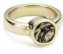 "Ring Edelstahl 24ct. Vergoldet 1 Swarovski-Kristall ""Cyrielle"" 57 (18.1) 330323"