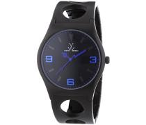 Armbanduhr Analog Quarz Edelstahl beschichtet CU10BK