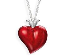 Herzanhänger Crown of my Heart mit Brandlack LD LP 32 RM II