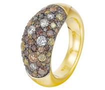 Joop Ring 925 Sterling Silber rhodiniert Kristall Zirkonia Extreme Pavée mehrfarbig