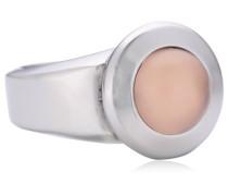 Damen-Ring Edelstahl Rosenquarz rosa