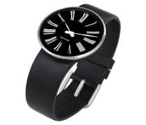 Unisex-Armbanduhr Analog Edelstahl schwarz 43458