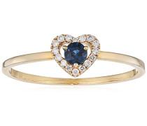 Ring 9 Karat (375) Gelbgold Saphir badm 07028-0001