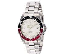 9404 Pro Diver Uhr Edelstahl Automatik weißen Zifferblat