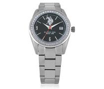US Polo Association -Armbanduhr Analog Edelstahl USP5108BK_BK